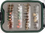 Small Creek Fly Selection - 36 Small Creek Flies and Fly Box!