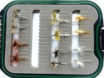 May Fly Selection - Dozen Flies and Fly Box!