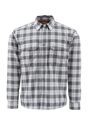 Simms Coldweather Flannel Shirt - Dark Shadow Plaid